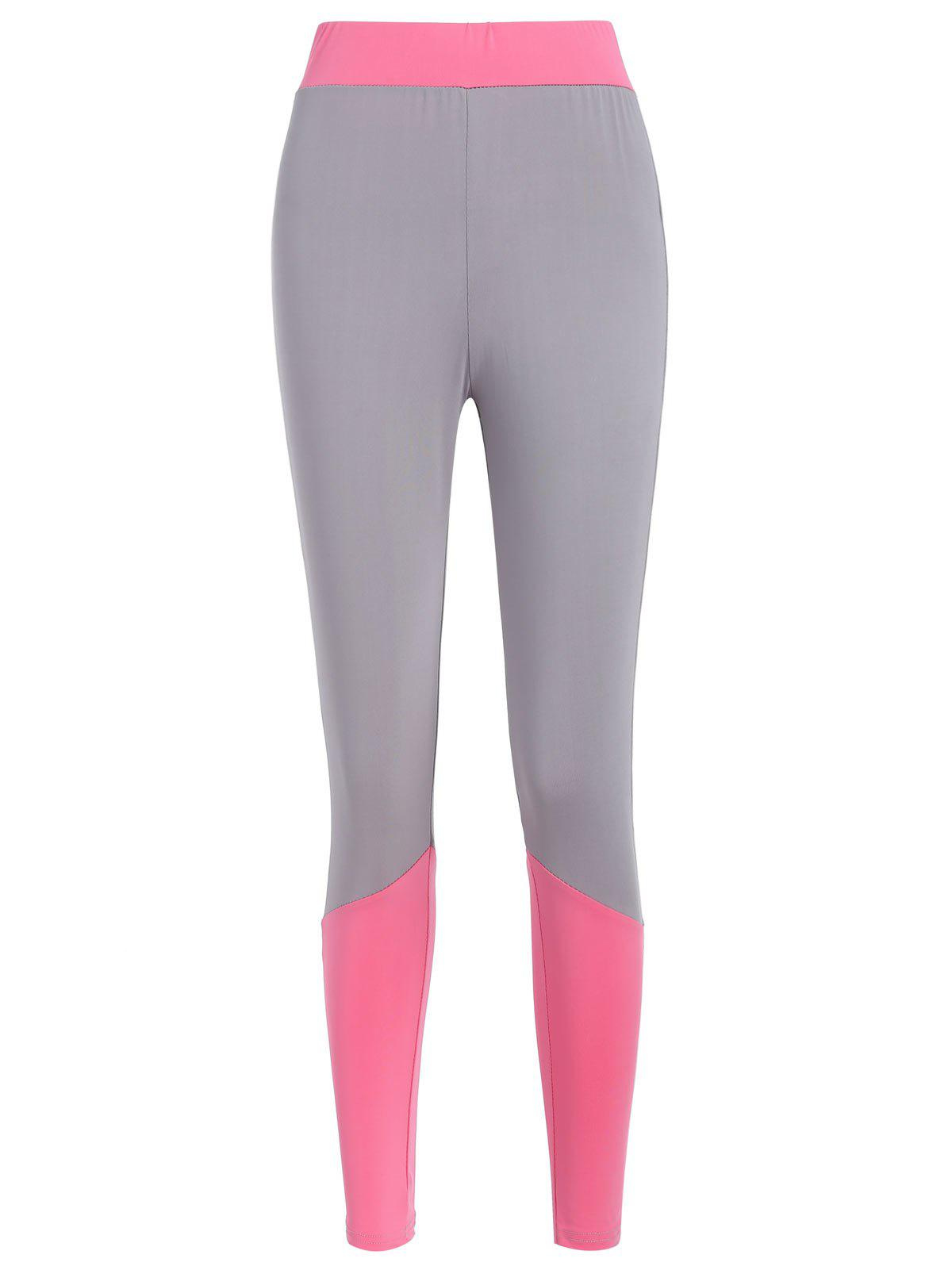 Fashion Color Block Gym Skinny Leggings