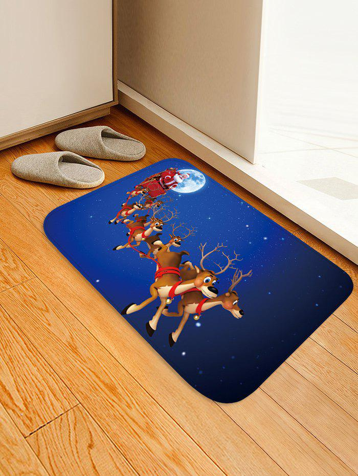 Best Christmas Elk Sleigh Pattern Anti-skid Water Absorption Area Rug
