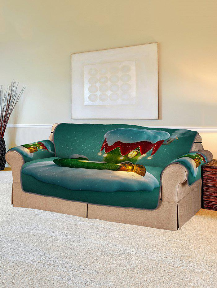 Cheap Christmas Boot House Print Couch Cover