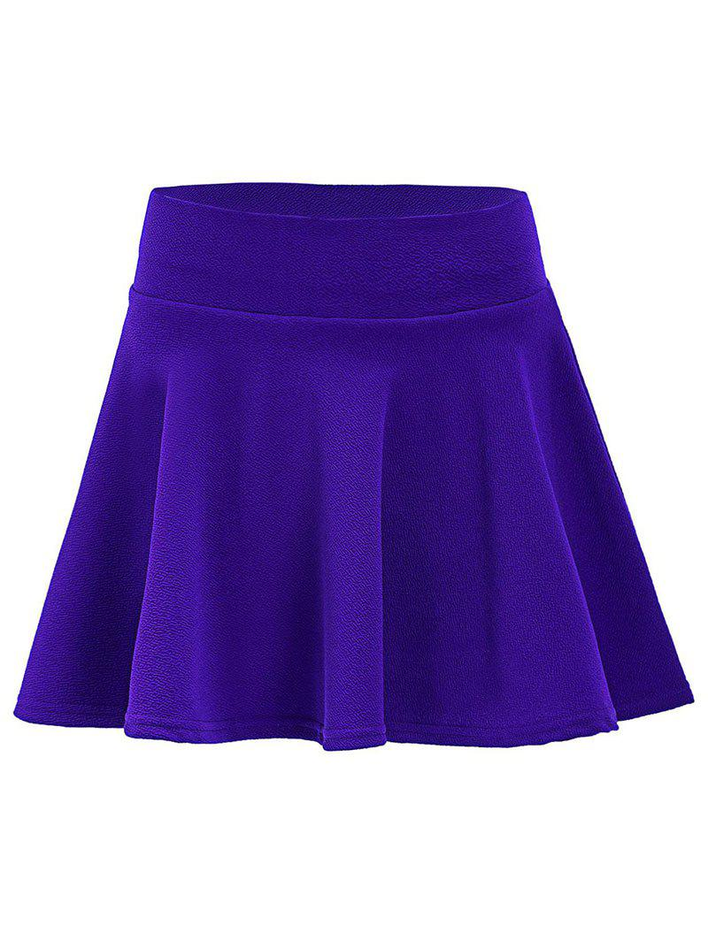 Best Plus Size Elastic Waist A Line Skirt