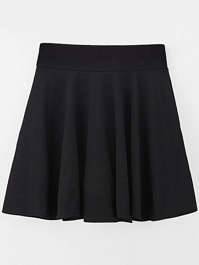 Latest Plus Size Elastic Waist A Line Skirt