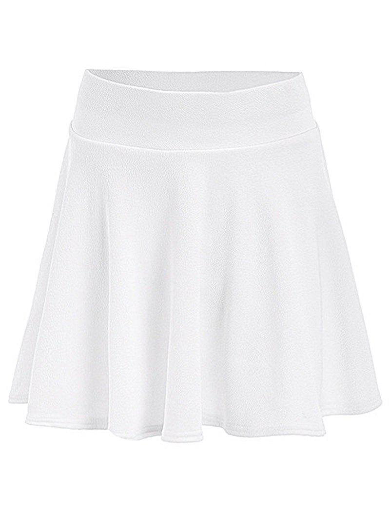 Outfits Plus Size Elastic Waist A Line Skirt