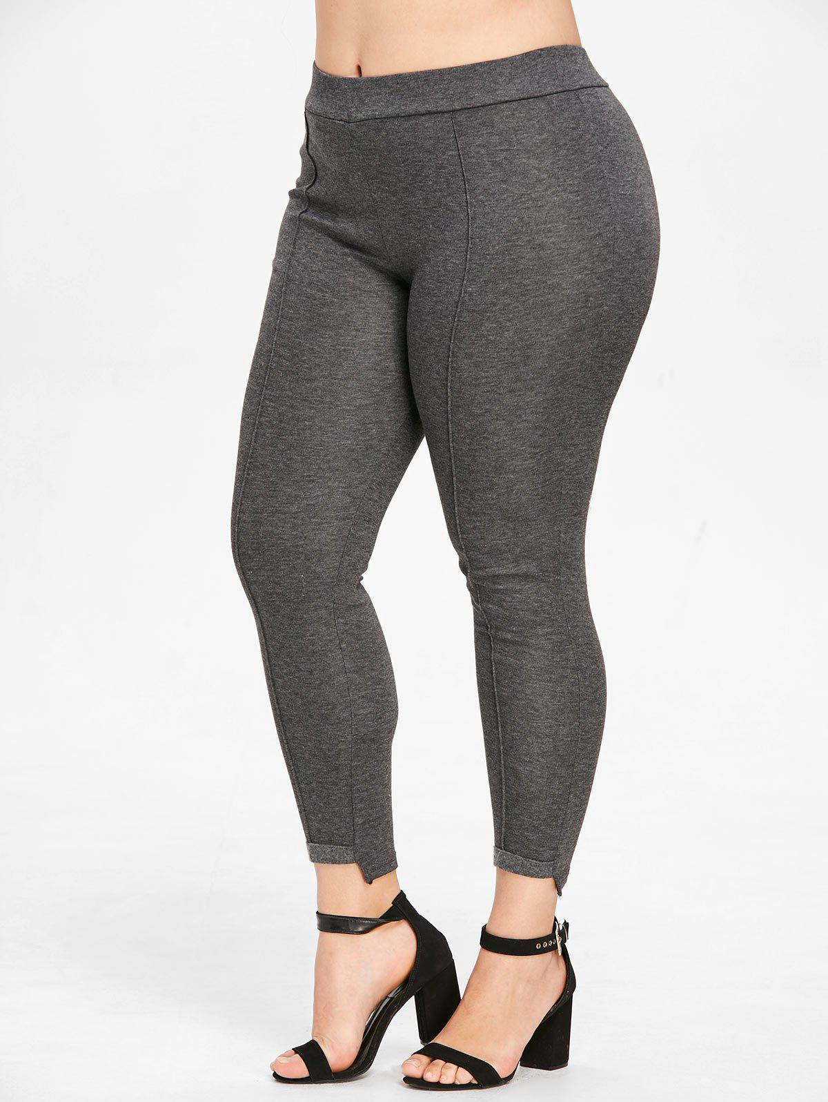 Latest Elastic Waist Plus Size Leggings