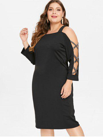 790d34888961 Plus Size Cold Shoulder Dress - Free Shipping, Discount And Cheap ...