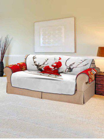 Christmas Elk Print Couch Cover