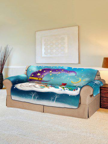 Christmas Snowmen Pattern Couch Cover