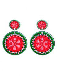 Christmas Snowflake Pattern Drop Earrings -
