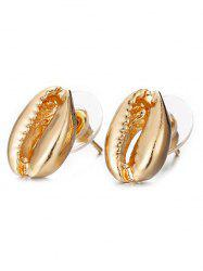 Alloy Shell Shape Stud Earrings -