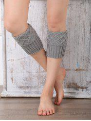 Rhombus Flanging Knitted Leg Warmers -