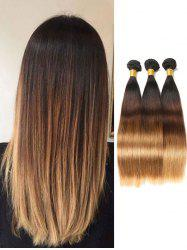 Indian Virgin Human Hair Ombre Straight Hair Weaves -