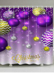 Christmas Ball Pattern Waterproof Shower Curtain -