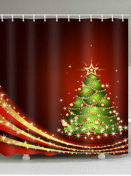 Christmas Tree Waterproof Shower Curtain -