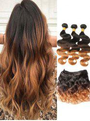 Real Natural Hair Ombre Body Wave Peruvian Virgin Hair Weaves -