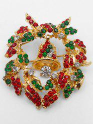 Christmas Garland Bell Shape Brooch -