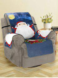 Christmas Night Santa Claus Print Couch Cover -