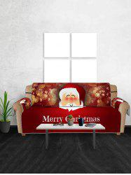 Christmas Santa Claus Pattern Sofa Cover -