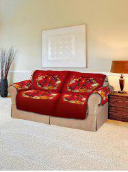 Christmas Ball Wreath Pattern Couch Cover -