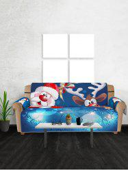 Christmas Santa Claus Elk Pattern Couch Cover -