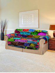 Colorful Brick Wall Pattern Couch Cover -