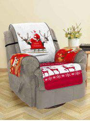 Christmas Elk Print Couch Cover -