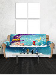 Christmas Snowmen Pattern Couch Cover -