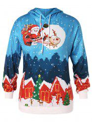 Plus Size House Santa Clause Christmas Hoodie -