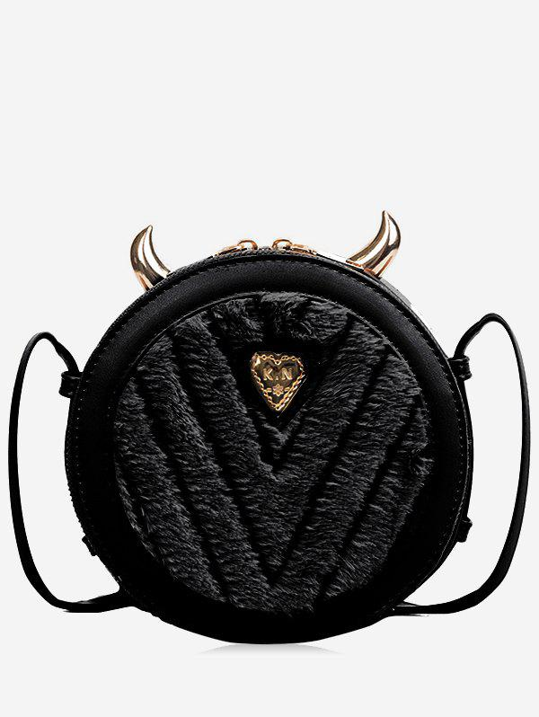 f54572b37 2019 Little Evil Shape Fluffy Crossbody Bag | Rosegal.com