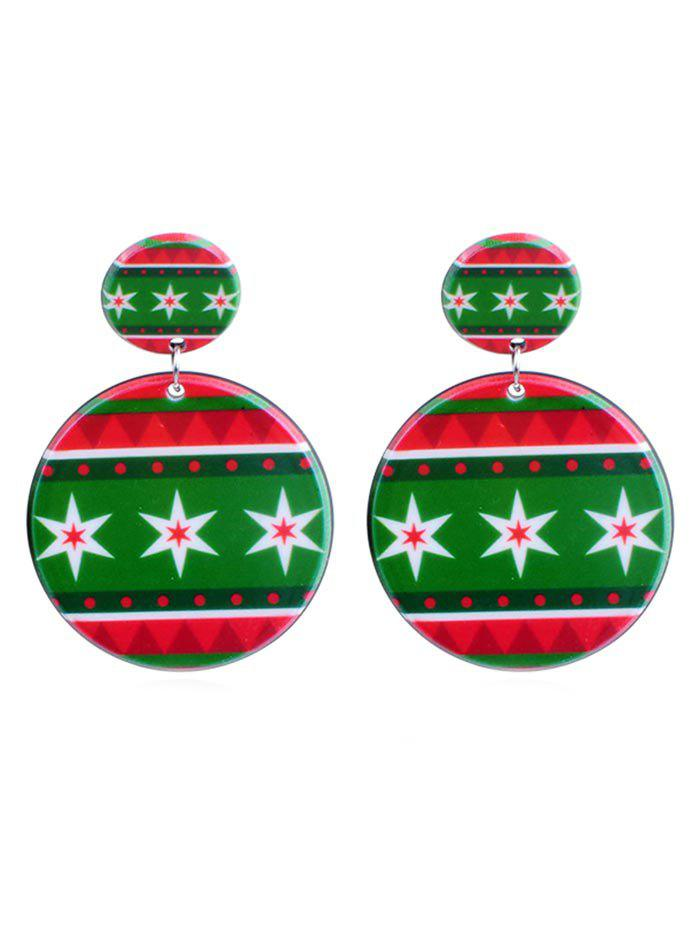 Shops Christmas Snowflake Pattern Drop Earrings