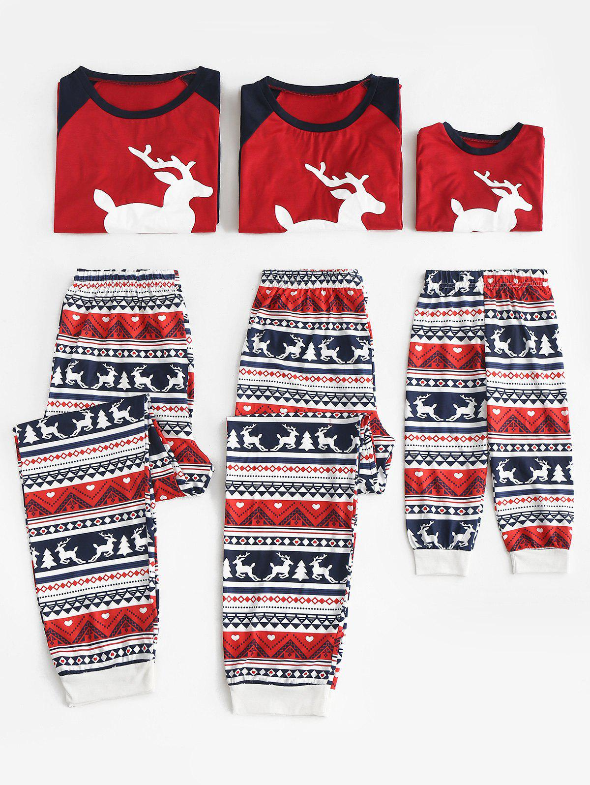 Outfit Christmas Patterned Matching Family Pajamas