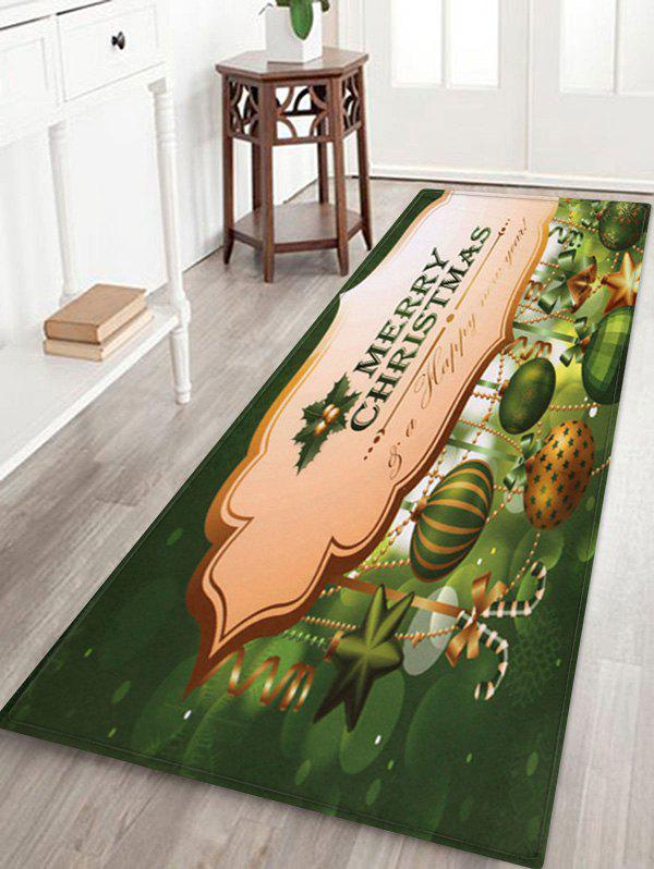 Online Merry Christmas Candy Cane Printed Fleece Floor Mat