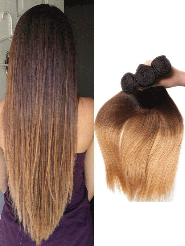 Outfit Real Human Hair Ombre Straight Peruvian Hair Extensions