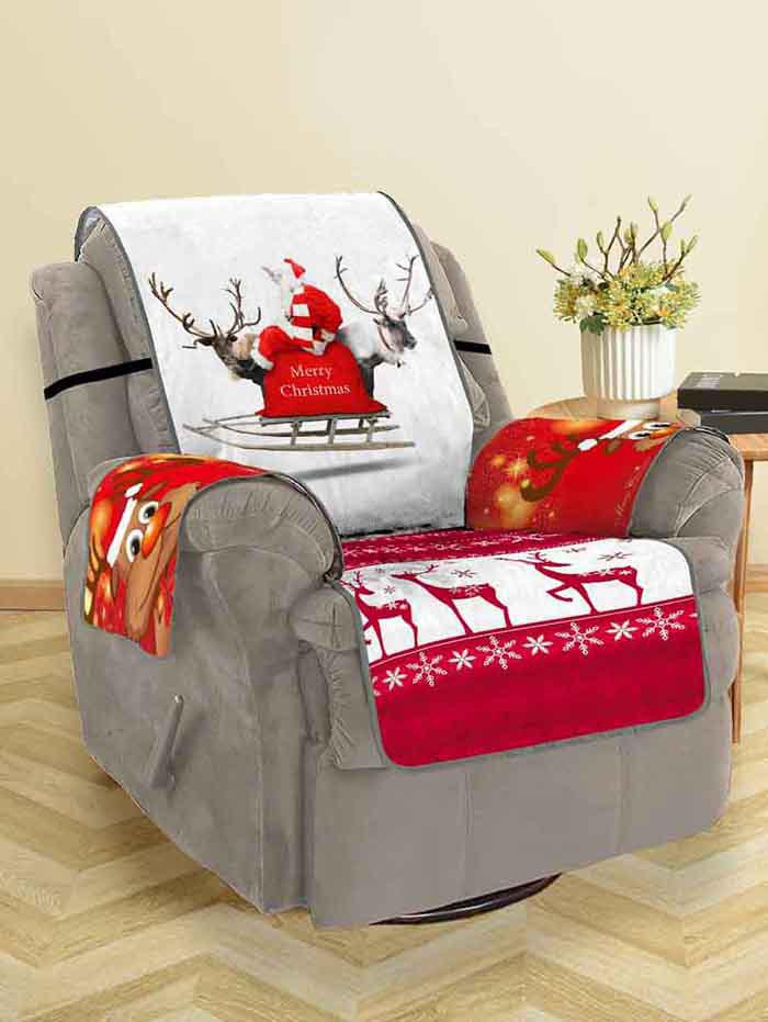 Shop Christmas Elk Print Couch Cover