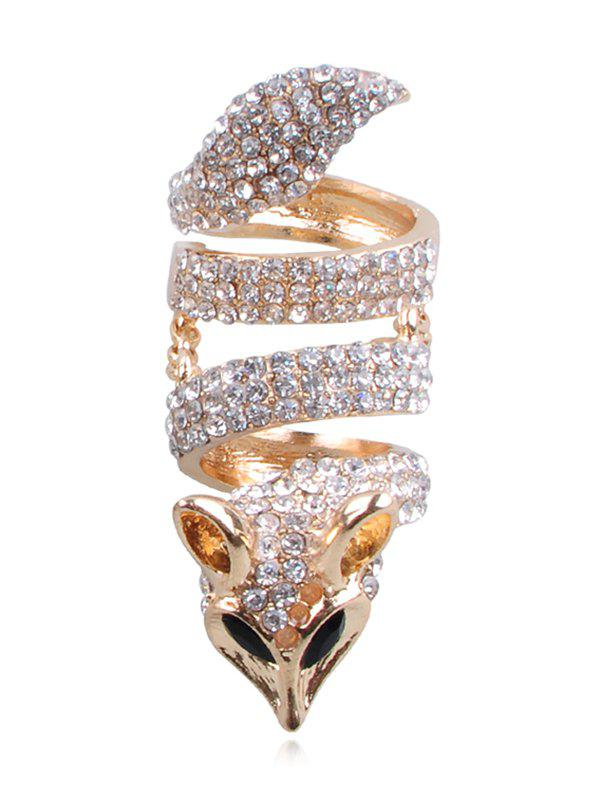 Buy Fox Design Rhinestone Embellished Ring