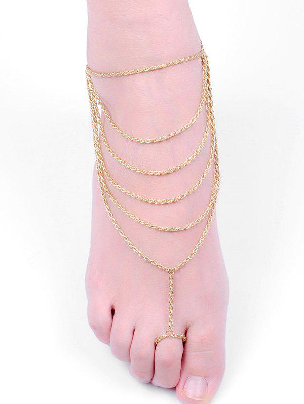 New Multilayered Tassel Design Toe Ring Anklet