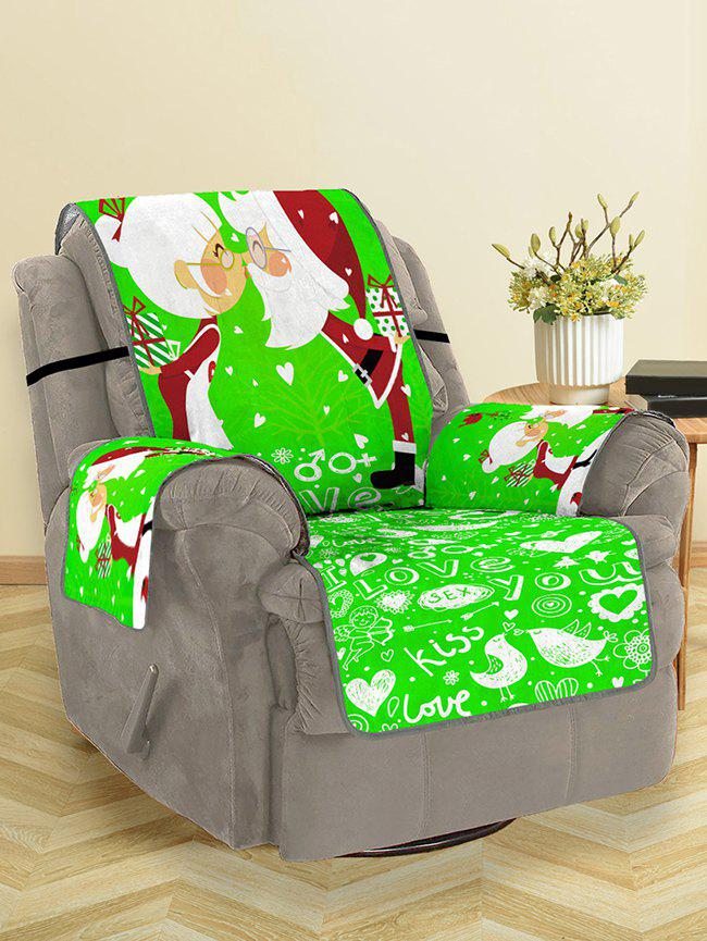 Outfits Christmas Santa Couple Pattern Couch Cover