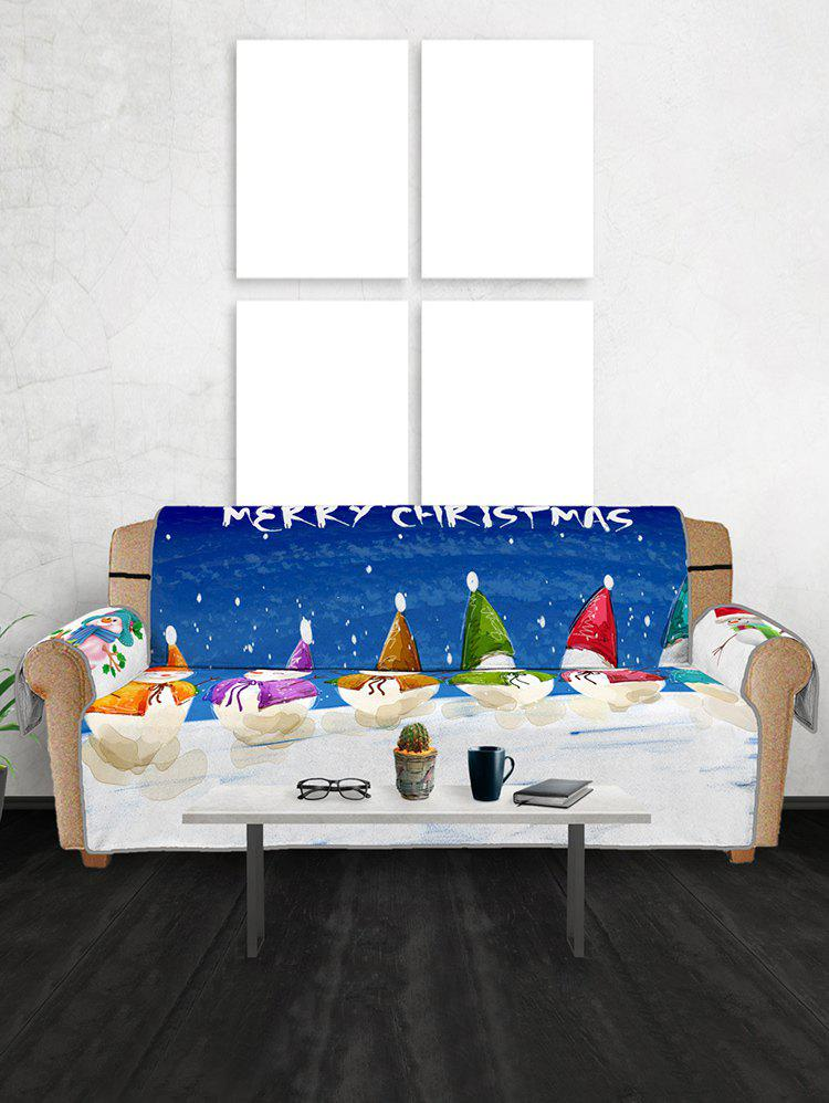 Outfit Christmas Snowman Pattern Couch Cover