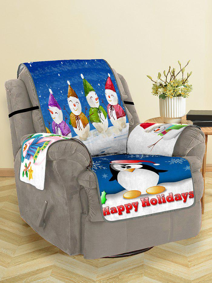 Best Christmas Snowman Pattern Couch Cover
