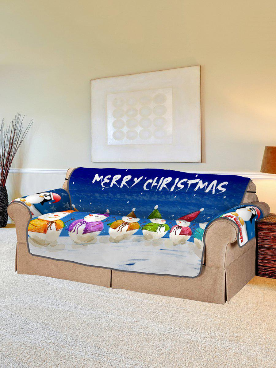 Store Christmas Snowman Pattern Couch Cover