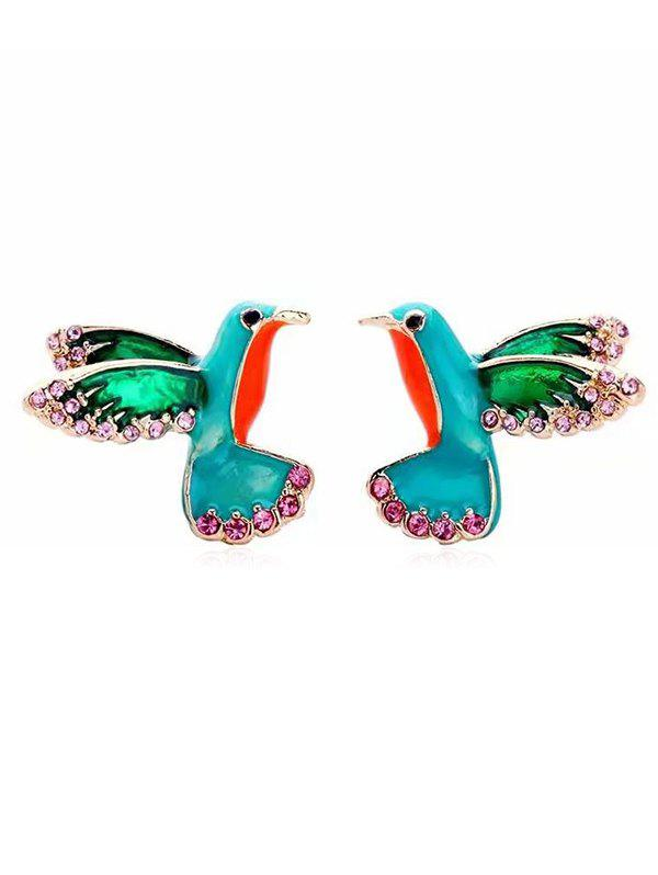 Latest Statement Sparrow Pattern Rhinestone Earrings
