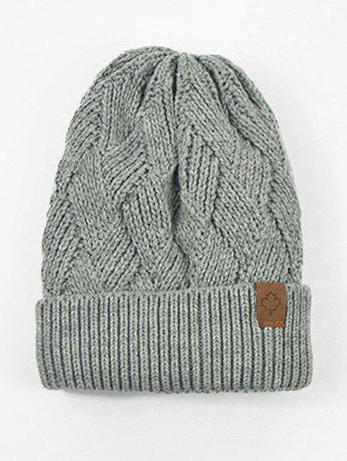 Outfits Outdoor Warm Flanging Cross Knitted Beanie