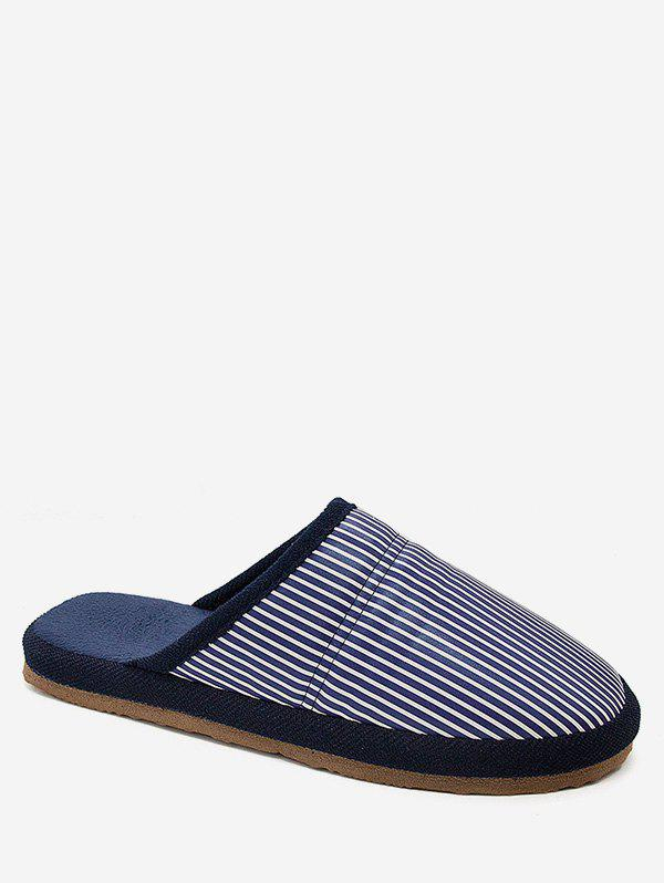 Buy Stripe Print Indoor Winter Slippers