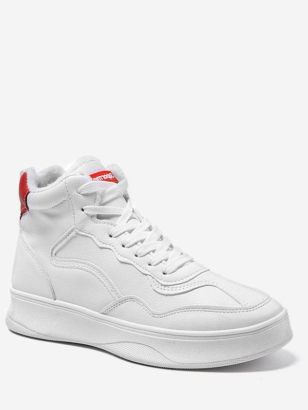 Latest Contrast High Top Flock Casual Sneakers