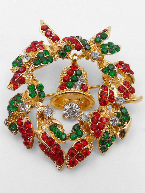 Chic Christmas Garland Bell Shape Brooch