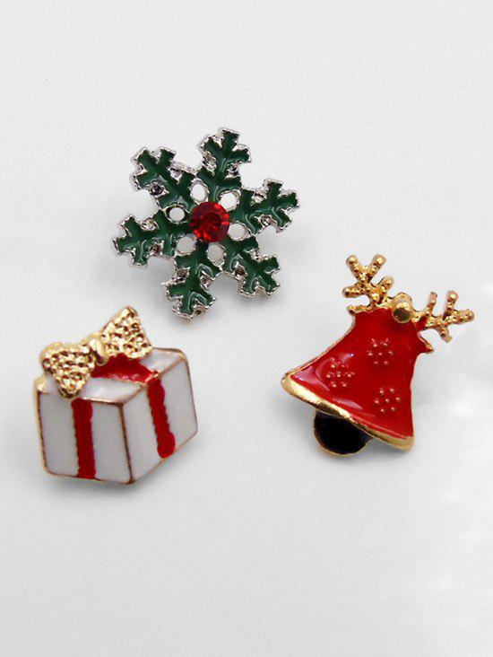 Affordable Christmas Bell Snowflake Shape Brooch