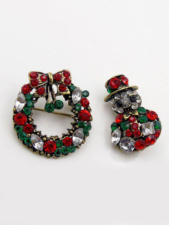 Latest Artificial Crystal Christmas Garland Brooch