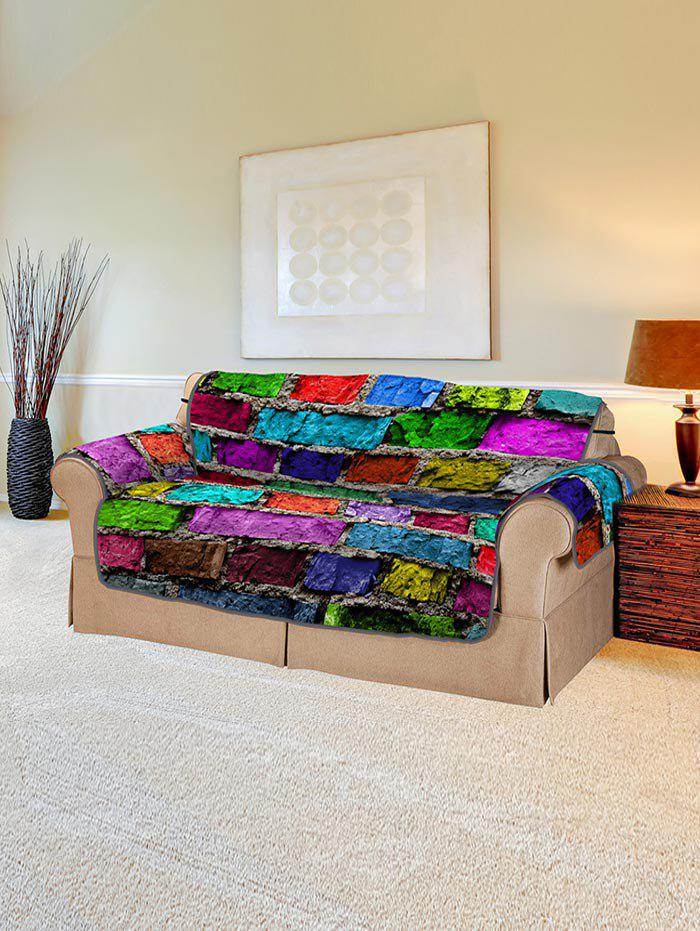 Unique Colorful Brick Wall Pattern Couch Cover