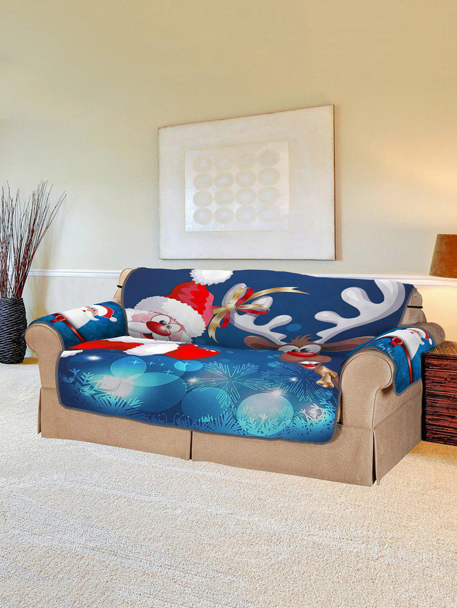 Cheap Christmas Santa Claus Elk Pattern Couch Cover