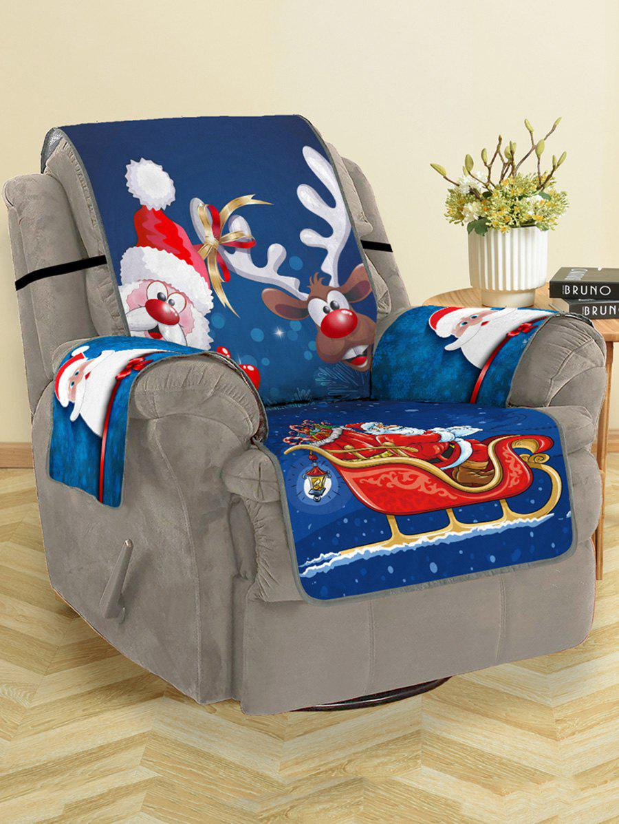 Store Christmas Santa Claus Elk Pattern Couch Cover