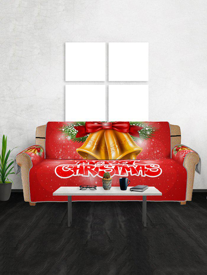 Fancy Christmas Bells Pattern Couch Cover