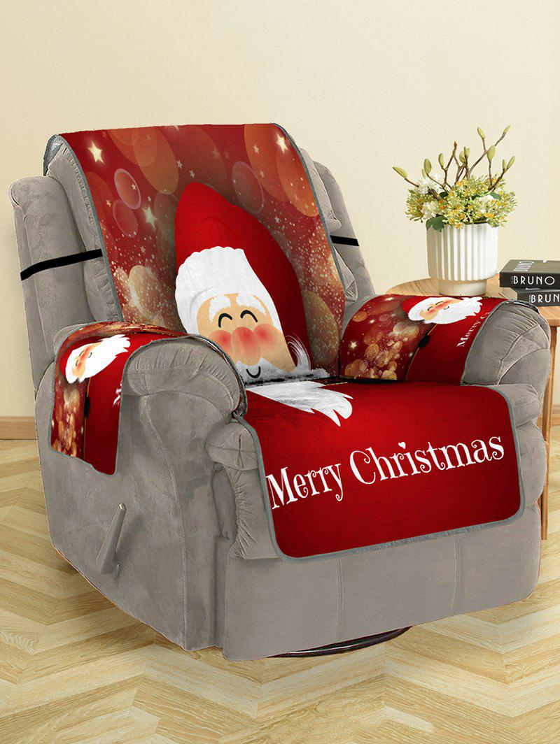 Trendy Christmas Santa Claus Pattern Sofa Cover